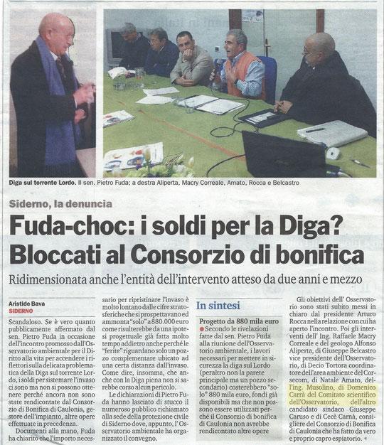 26/03/2015 - Conferenza stampa sulla Diga di Contrada Pantaleo - Diga sul Torrente Lordo