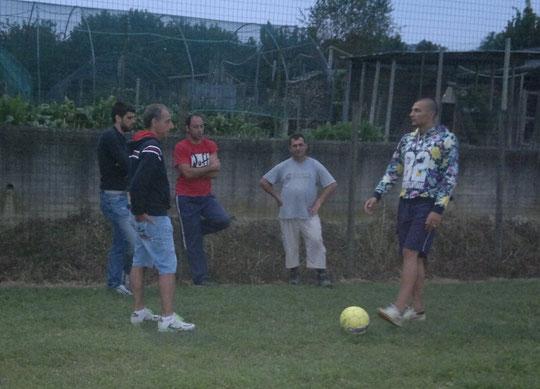 Ospite illustre: Mogos Vasile in visita alla squadra