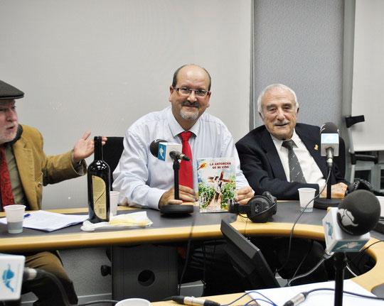 Con José María Falgas y Juán Acebal