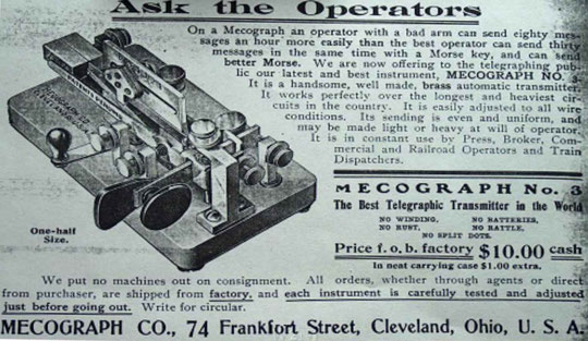 Figura 6. pubblicità dell'epoca del nuovo Mecograph No.03 .