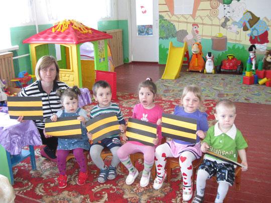 Малыши готовили Георгиевскую ленточку к празднику ПОБЕДЫ