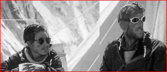 Tenzing & E. Hillary Everest 1953