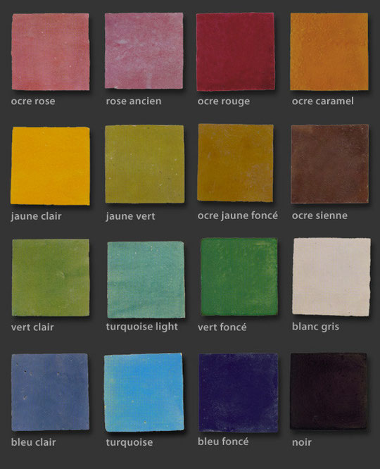 zelliges farben southern tiles mediterrane wand und bodenfliesen. Black Bedroom Furniture Sets. Home Design Ideas