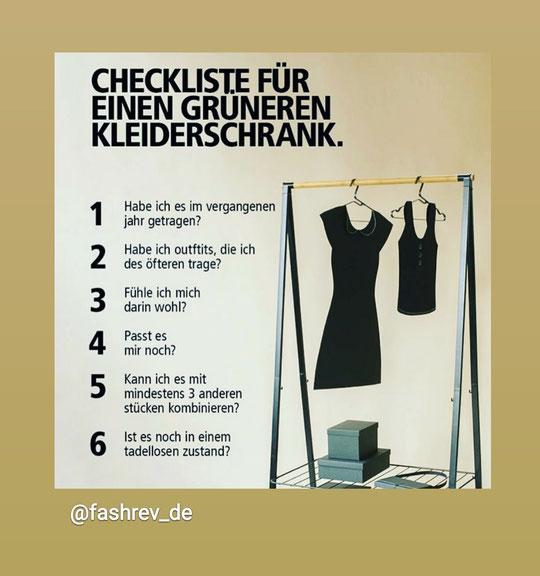 Tipps für einen nachhaltigen Kleiderschrank © FASHION REVOLUTION GERMANY