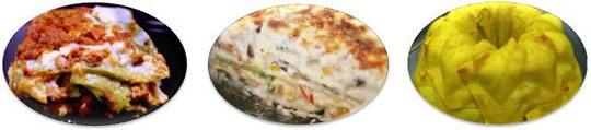 Lasagne alla bolognese - lasagne alle verdure - pasticcio di tortellini