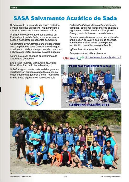 En Letras Letriñas,revista anual del CEIP Sada y sus contornos