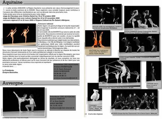 Pages des articles