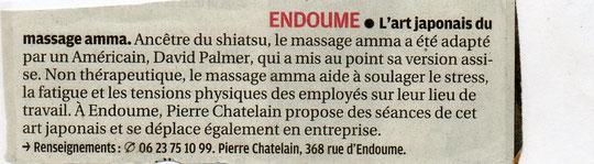 La Provence du 01/12/10 (page quartiers)