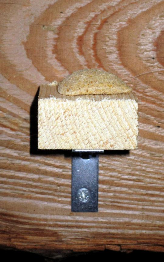 Keksablage, 4,5 x 4,5 cm groß, damit die Pferde am Zaun nicht hängenbleiben können