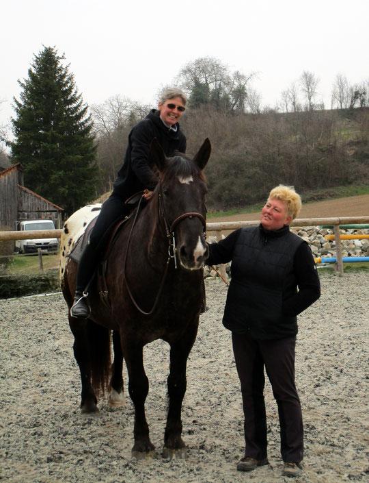 Annette auf Kurti und ich