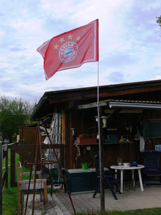 Meine Bayern München-Flagge :-)