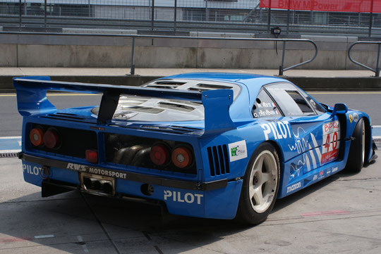 Ferrari F40 GTE LM (by Michelotto) - by Alidarnic (Modena Trackdays 2009)