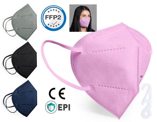 FFP2 Masken, jetzt auch in verschiedenen Farben erhältlich