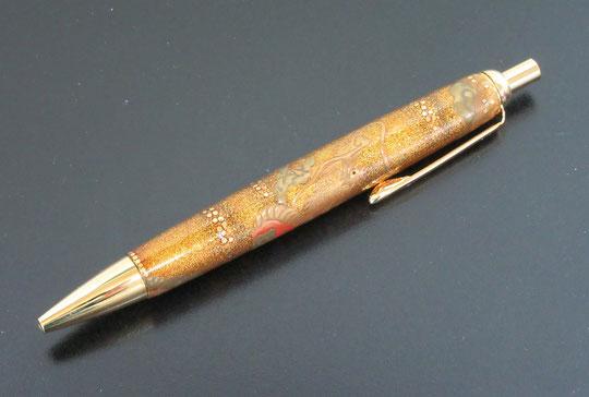 輪島塗 金梨地 ボールペン 龍蒔絵 木製 漆 うるし