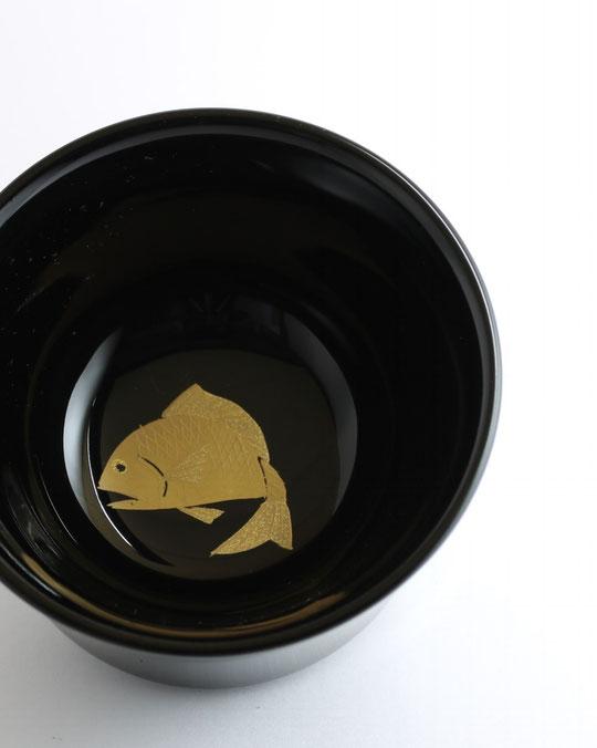 輪島塗 ぐい呑 鯛蒔絵