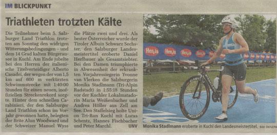 SN - Bericht Salzburgerland Triathlon 2010