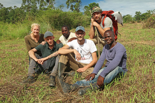 Our team for the first four days: Laura, Jelmer, Nsaggu, me, GJ and Jeff.