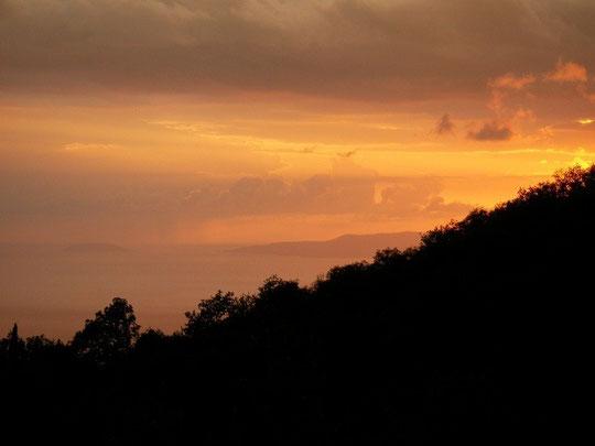Wederom een prachtige zonsondergang.