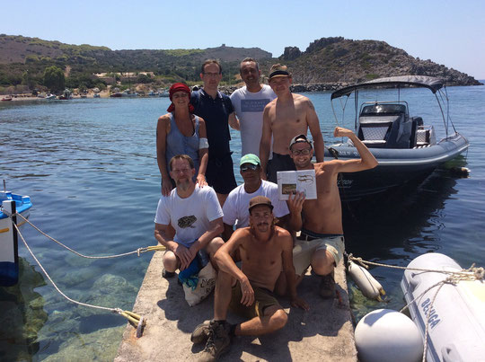 The team for Kythira and Pori. © Suzanne Byrnes