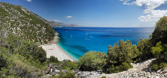 Cala Sisine from above