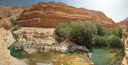 The stunning Wadi Arugot, paradise for those fond of swimming. (click to enlarge)