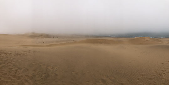Dense fog rolling in from the Atlantic Ocean, being the lifeline of the Namib Desert (click to enlarge).