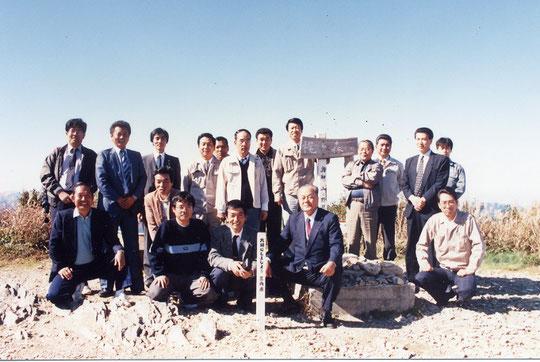 高知自動車道立川工事現場を見学した後で梶ヶ森へ登る(1989年)