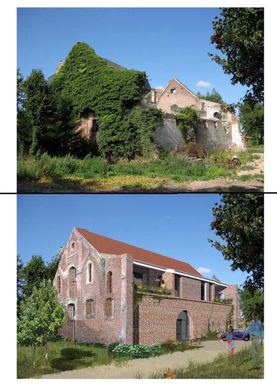 Photomontage du projet /Revit building/photoshop/