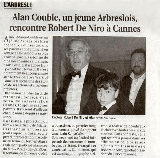 """Photo  réalisée par Anik COUBLE   et article paru dans """"Le Progrès """" du dimanche 29 mai 2011"""