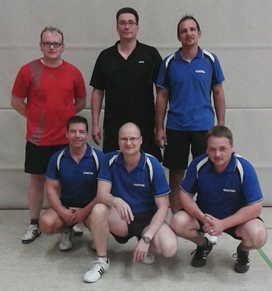 hintere Reihe - von links nach rechts: Andreas Rimer, Jelle Block, Daniel Bruns; vordere Reihe - von links nach rechts: Egbert Grüneweg, Carsten Buczilowski, Thomas Hartung