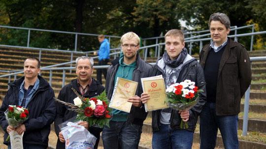 v.l.n.r.Frank Scharmach, Frank Hammel (Präsident ), Stefan Härtel, Dominik Thiemke, Andreas Prüfer (Vize Präsident)