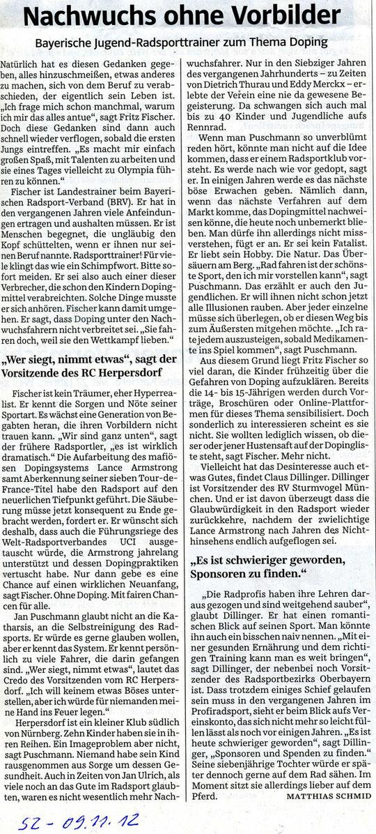 Quelle: Süddeutsche Zeitung vom 09.11.2012