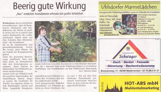 """""""Wochenspiegel"""" 29.8.2012"""