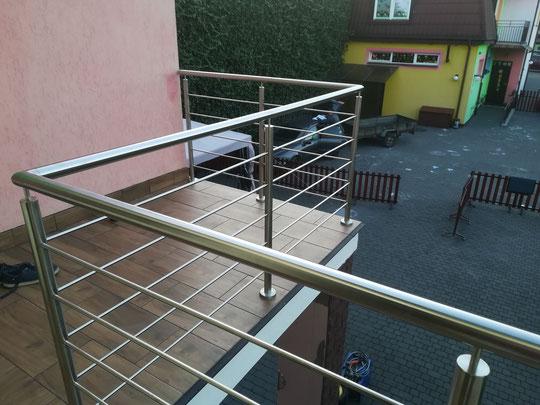 Barierka nierdzewna balkonowa