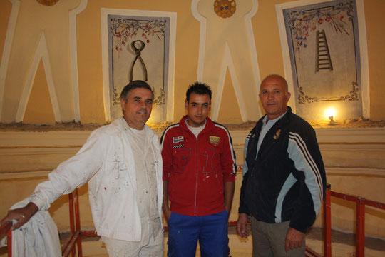 Venancio,Pedro y Diego dentro de la cúpula.