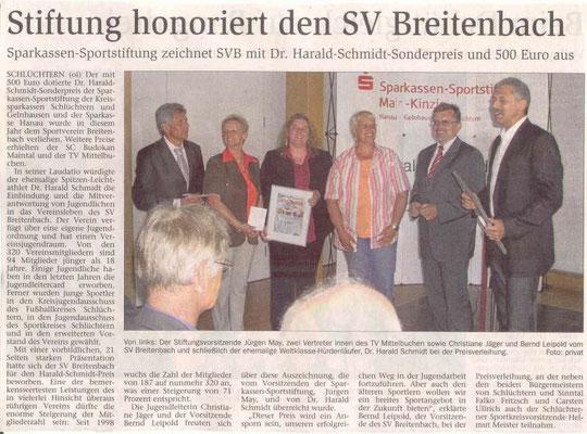 Zeitungsartikel Harald-Schmidt-Preis