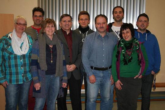 ein Großteil der Mitglieder des Vorstandes
