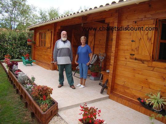 Maison bois massif . Merci à nos aimables client du Gard