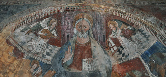 Castello di Rostino - Chapelle Saint Thomas de Pastoreccia - Le Christ en majesté