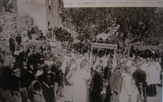Procession de la Saint Michel à Asco 1909