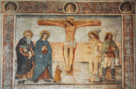 Calvi - Oratoire St Antoine Abbé - Crucifixion
