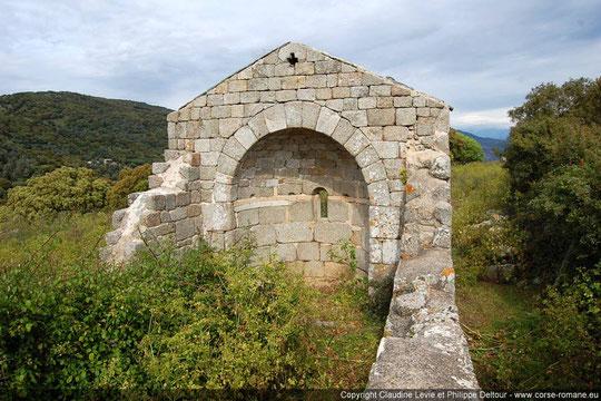 Cargese (Paomia), chapelle Sant'Elia-Xe-XIIIe s. (cl. Corse Romane)