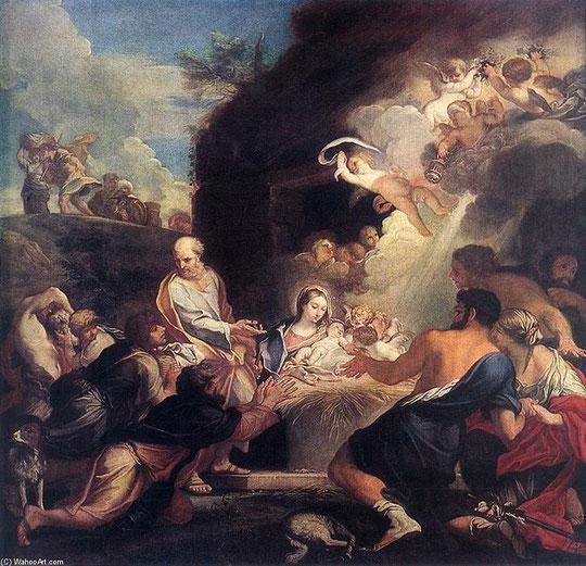 Carlo Maratta-Adoration des bergers- 1690-Musée de  l'Hermitage cliché internet