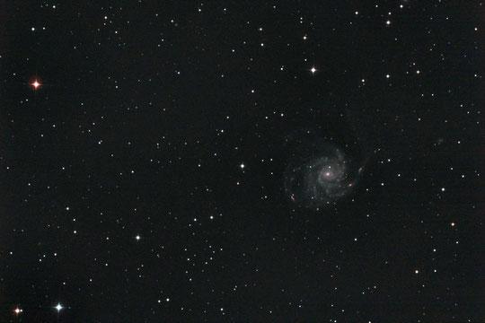 M101 Feuerradgalaxie mit einer Aufnahmebrennweite von 750 mm.