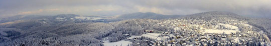 Panoramablick vom Teltschik-Turm im Winter