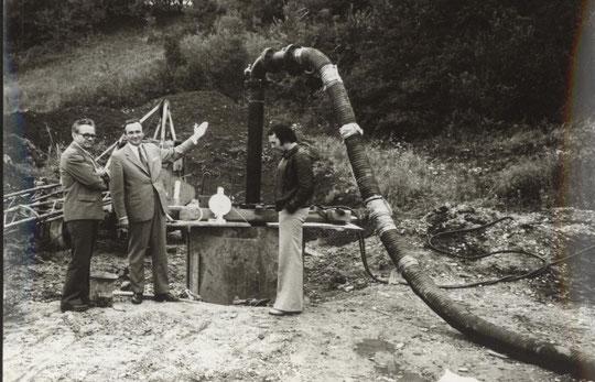 Foto: Brunnenbohrung in Hörersdorf aus dem Jahr 1978