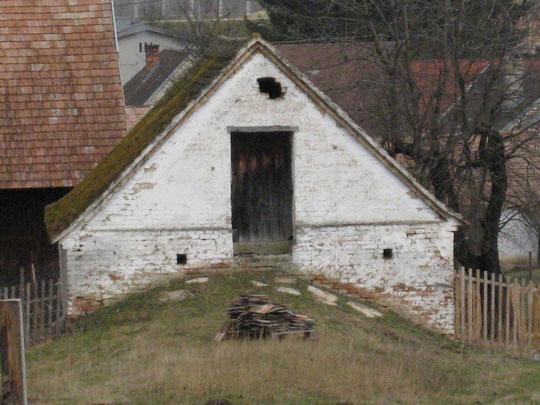Untere Kellergasse (verkehrt) - Presshaus von Fam. Denner (vormals Thalhammer)