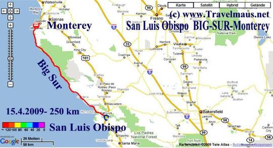 15.4.2009 San Luis Obispo - Monterey 250 km