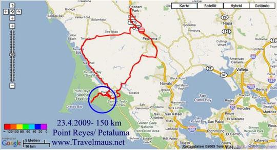 23.4.2009 Petaluma - Petalums 150 km
