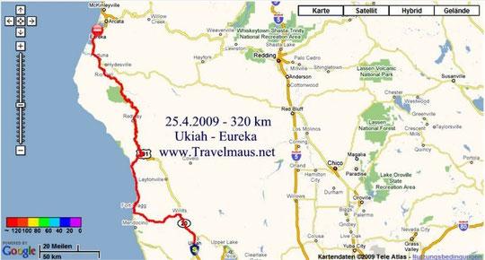 25.4.2009 Ukiah - Eureka 320 km